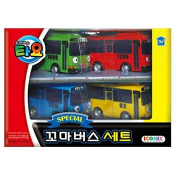 Tayo The Little Bus Special 4Pcs Mini Car Set : Korean Made TV Animation Toy