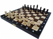 27cm European School chess set - Ornate folding board