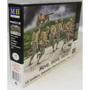 Master Box Move, move, move!!! US Soldiers, Operation Overlord 1944 - 1:35 plastic model kit