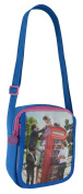 One Direction 1D HipsterCross Body Shoulder Flap Over Bag Blue & Pink Telephone Box Photo New Design