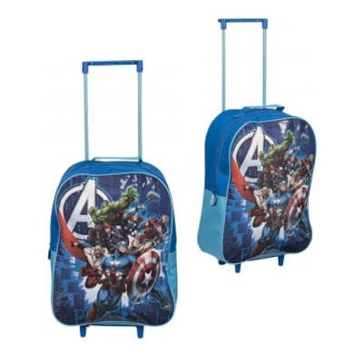 OFFICIAL AVENGERS ASSEMBLE EVA TROLLEY KIDS LUGGAGE SCHOOL BAG ...