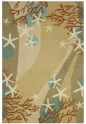 Homefires Accents Indoor Rug, 60cm by 90cm , Coral Waves