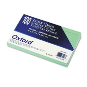 Ruled Index Cards 5 x 8 Green 100/Pack