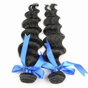 Natural Remy Virgin Hair 60cm Loose Wave Human Hair 2Bundles Sina Beauty Hair. 100% Indian Hair