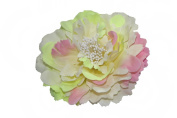 HH Building Large Peony Artificial Flower Hair Clip Gradient Colour Festival Brooch Decoration