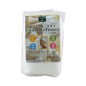 New - Earth Therapeutics Quick Dry Hair Turban Ultra-Absorbent - 1 Cloth