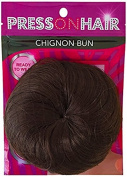Press On Hair Chignon Bun Hair Extension, Dark Brown, 35ml