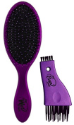The Wet Brush Classic Detangle Brush & Hair Brush Beauty Tool Cleaner, Metallic Purple...