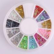 Vip Beauty Shop 3d Nail Art Wheels 12 Colours Glitter DIY Decorations