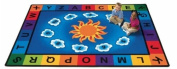 Literacy Sunny Day Learn and Play Kids Rug Rug Size