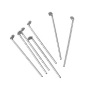 VALYRIA 1000pcs Stainless Steel Flat Head Pins Jewellery Findings Silver Tone 0.6mm(23 Gauge)