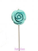 SALE Coral Rose Hat Pin (Blue)