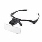 Skycoolwin 5 Lens 1X 1.5x 2x 2.5x 3.5X Magnifier Magnifying Glasses with 2 LED Lights Loupe