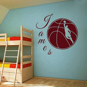 Wall Decals Sports Basketball Player Ball Game Team Monogram Boy Personalised Name Baby Any Room Gym Vinyl Decal Sticker Home Decor ML201