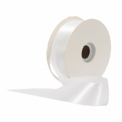 Offray Single Face Satin Craft 2.2cm by 100-Yard Ribbon Spool, White