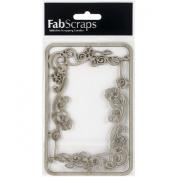 Die-Cut Grey Chipboard Embellishments-Filigree Frame, 14cm x 8.9cm
