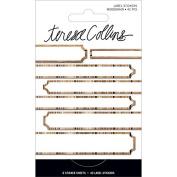 Signature Essentials Foil Label Stickers 42/Pkg-Woodgrain