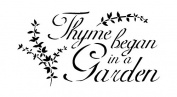 Word Stencil - Thyme Began In A Garden - Elegant - 18cm x 28cm