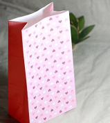 50 Pieces Red Pink Love Heart Decoration Gift Packing Paper Dessert Package Supplies