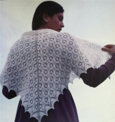 Fibre Trends Angel Lace Shawl Knitting Pattern S-2018