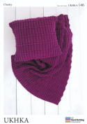 Chunky Knitting Pattern - Easy Knit Design Ribbed Cushion Cover & Blanket Throw