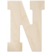 MPI Baltic Birch University Font Letters and Numbers, 13cm , Monogram N