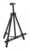 Displays2go Adjustable Display Easel Tabletop or Floor Top Clamp Carrying Case, Black