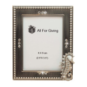 All For Giving Seahorse Picture Frame, 6.4cm x 8.9cm , Pewter