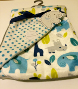 Baby Blanket Modern Jungle Boy Reversible