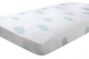 aden + anais 100% Organic Cotton Muslin Crib Sheet, Sky Blue