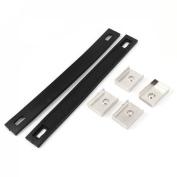 Household Cupboard Door Rubber Pull Handle Black 2pcs