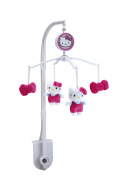 Sanrio Hello Kitty Cute as A Button, Musical Mobile/Pink/White