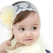 FEITONG(TM) Lovely Ovely Unusal Child Baby Girl Elastic Lace Flower Headband Hairband Hair Accessories