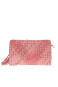 lcolette Two Tone Braided With Tassel Accented Clutch With Strap hd2113
