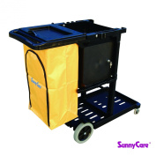 SunnyCare®#611-BL New Black Plastic Janitorial Cart With 94.6l Bag Size