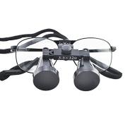 icarekit (TM) High-end Luxury Dental Metal Surgical Medical Binocular Loupes 3.5X 320mm Optical+ Carry bag
