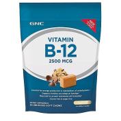 GNC Vitamin B-12 Soft Chew 2500 MCG - Chocolate Chip Cookie Dough