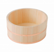 Hinoki Oke Pure Wood Bathtub Medium Bucket DIA 210mm