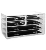 Estilo 100% Pure Acrylic Cosmetic and Jewellery Organiser, Storage Display Box