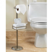 Spa CreationsToilet Tissue Stand with Wet Wipe Adjustable Shelf