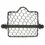 Primitive Country Style Chicken Wire Toilet Paper TP Holder Farmhouse Bath Decor
