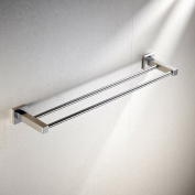 Greenspring Bathroom Lavatory Double Towel Bar Wall Mount, Brushed Stainless Steel