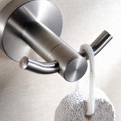 Greenspring Stainless Steel Double Robe Hook Bathroom Towel Hanger Rack , Brushed Nickel