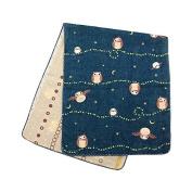 Japanese Hand Towel Owl 90cm X 34cm Cool Kimono Design Print