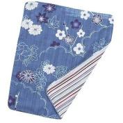 Japanese Handkerchief Wash Towel Pale Greenish Blue 40cm X 34cm Cool Kimono Design Print