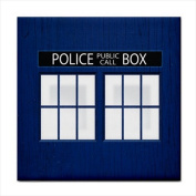 Police Box Tardis Face Towel Washcloth