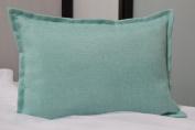 Creative 30cm x 46cm Solid Faux Linen Throw Pillow, Aqua
