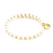 Chrysalis Gold Plated Earth Milk White Wrap Bangle Bracelet - CRBW0007GPMIWH