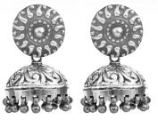 Ethnic Jhumki Earrings - Sterling Silver