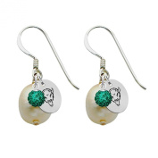 Marshall Thundering Herd Silver, Colour and Freshwater Pearl Drop Earrings